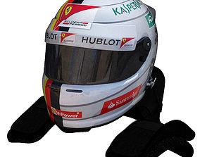 3D model Vettel helmet 2016