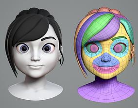character 3D model Cute cartoon girl