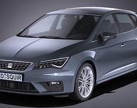 3D model 5-door Seat Leon 2017