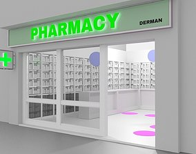 Pharmacy Advertising Designer Architectural 3D asset