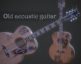 3D model Old acoustic guitar