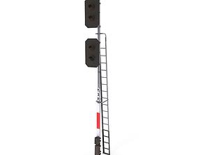 Train Traffic Light 3 3D model
