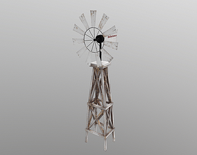 3D model game-ready Windmill