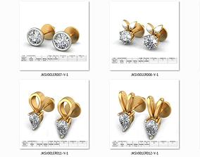 50 Diamond Women Earrings 3dm details bulk collection