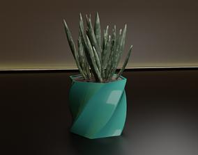 3D printable model Twist pot flower plant planter