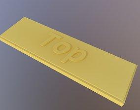 Top label 3D printable model