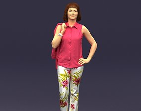Flowers pants woman 0403 3D model