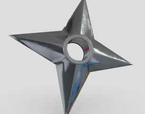 Shuriken 3 3D asset