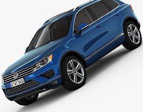3D Volkswagen Touareg 2015 detailed interior