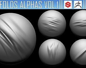 3D ZBRush Folds Alphas