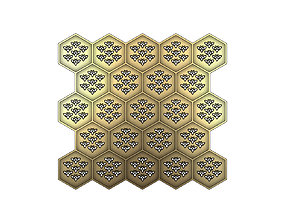 art Beehive panel for 3dprinting and cnc