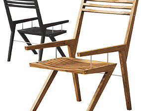 Bivalvia wooden chair by Jan Baric 3D