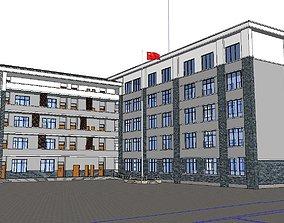 Office-Teaching Building-Canteen 46 3D