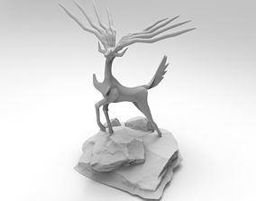 pokemon Xerneas POKEMON Stag Statue 3D Print Model