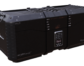 3D asset low-poly Sci-Fi Crate