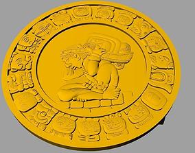 Mayan Belt Buckle 3D printable model