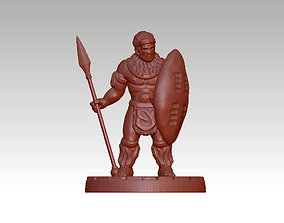 African warrior statue 3D printable model