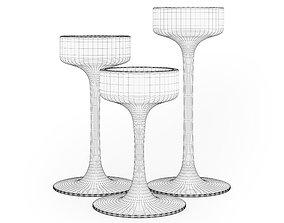 3D Glass Candlesticks
