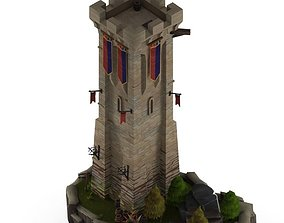 3D asset Castle Tower