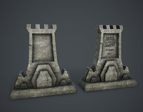 3D asset Aged Tombstone