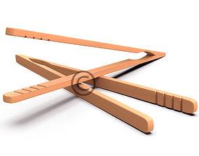 3D model Bamboo Tongs