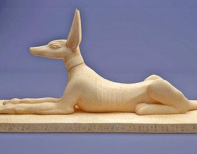 3D Egyptian anubis statue