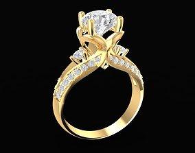 1669 Diamond Women Ring 3D print model