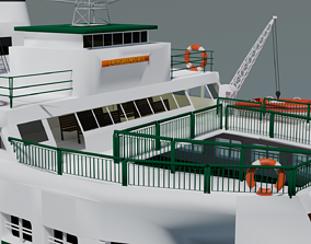 3D Evergreen State Ferry