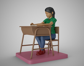 3D print model Girl in the Classroom