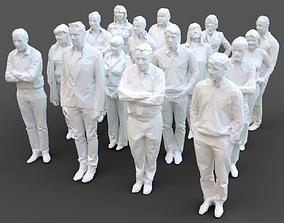16 Stylized Human Statues Pack V6 3D model