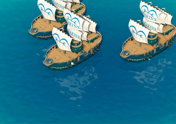 One Piece - Marine Warships 3D