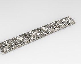 orchid bracelet 3D print model