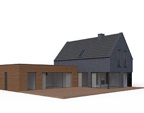 Modern family house 02 3D model