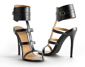 Nika Ankle Cuff High Heels 3D model