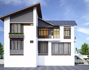animated home House design 3d model