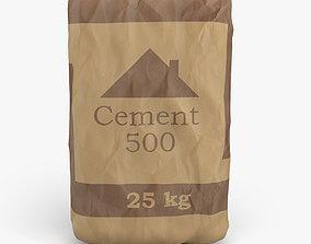 3D model design cement bag
