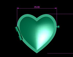 3D printable model Double Capped Heart