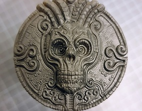 3D printable model Skull plaque