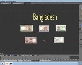 Paper - money models of Bangladesh 3D asset