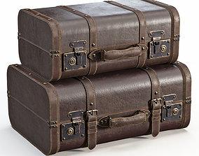 Brown Vintage Suitcases brown 3D model