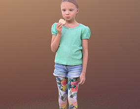 3D asset Lilly 10250 - Walking Child Eating