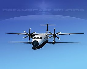 Dehaviland DHC-8 400 Tour America 3D model