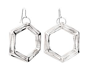 Hexahedron earrings 3D print model
