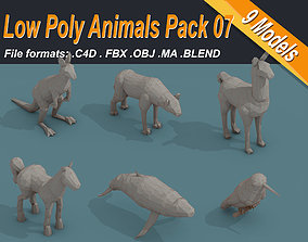 Low Poly 3d Art Animals Isometric Icon Pack 07 low-poly