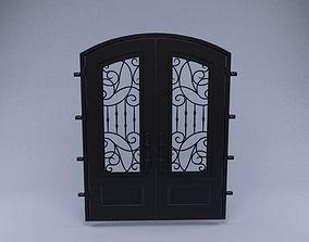 Door with patterns 3D