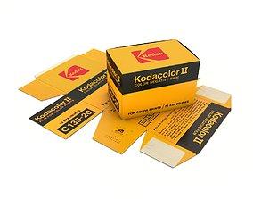 1977 Kodacolor II C 135-20 Color Negative Film Box 3D