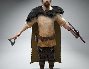 3D Viking Ragnar Not Rigged
