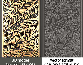 Decorative panel 140 model and vector pattern 3D