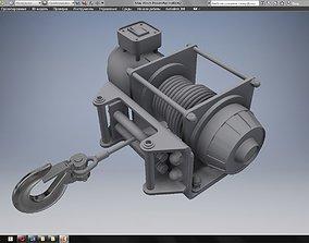 Mini Winch 3D CAD model