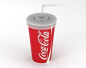 Drink Cup 3D model coca